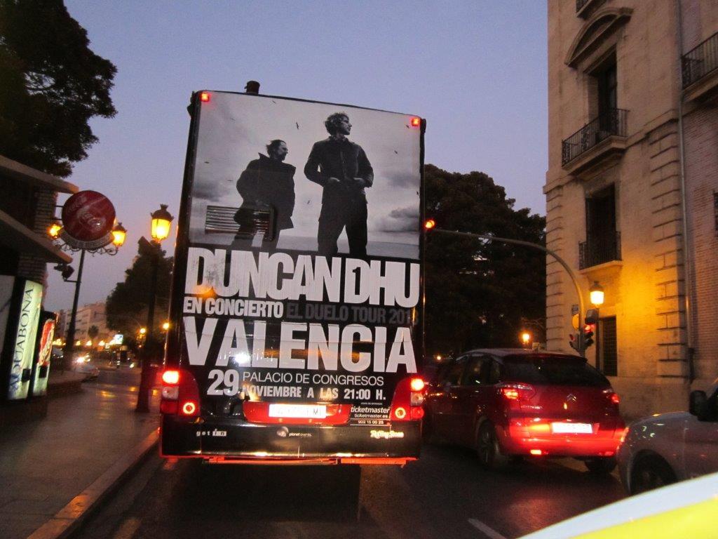 Concierto DUNCAN DHU Valencia