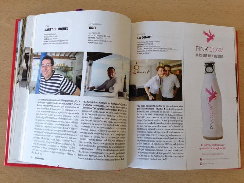Pink Cow – Anuario Cocina Comunitat Valenciana 2014