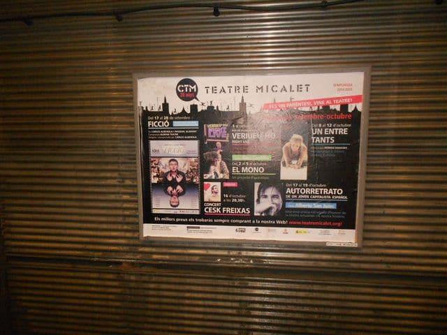 Teatre Micalet – programación septiembre