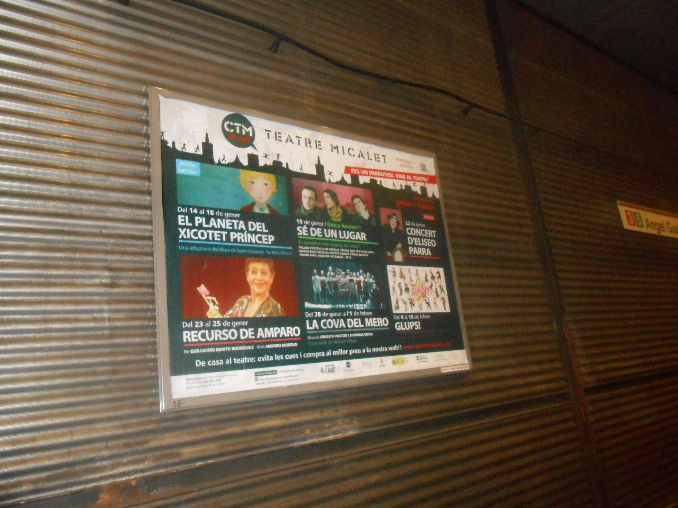 Teatre Micalet – programación