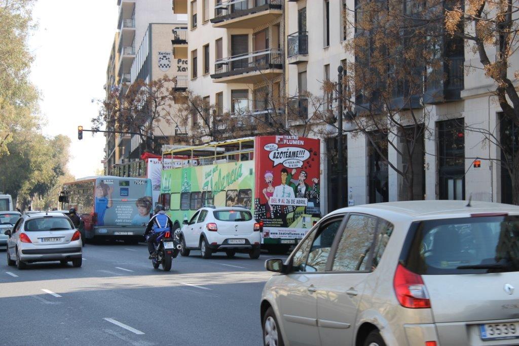 Publicidad autobuses Valencia, publicidad exterior