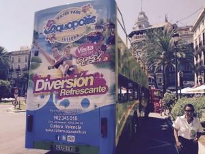 Publicidad bus turistico Valencia – Aquopolis 2015