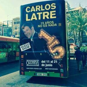 Publicidad bus turistico Valencia – Carlos Latre 2015