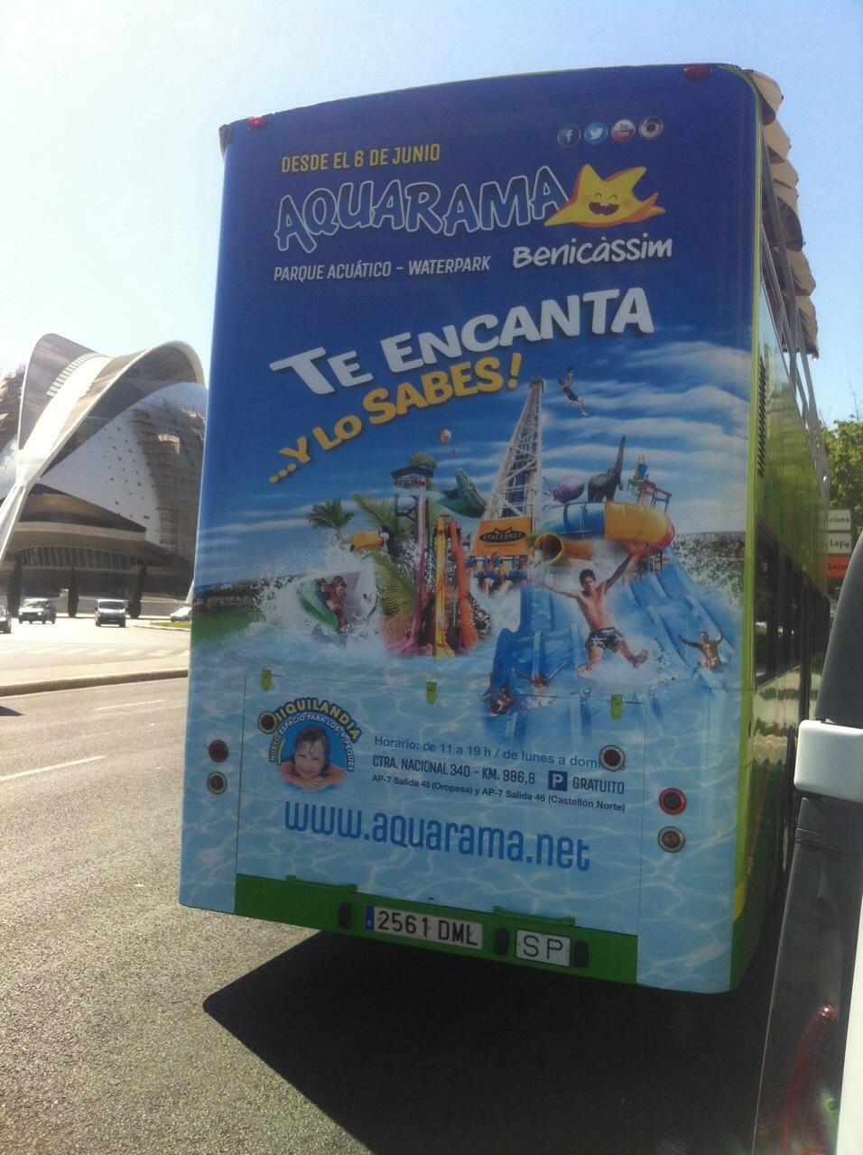 Publicidad bus turistico Valencia – Akuarama