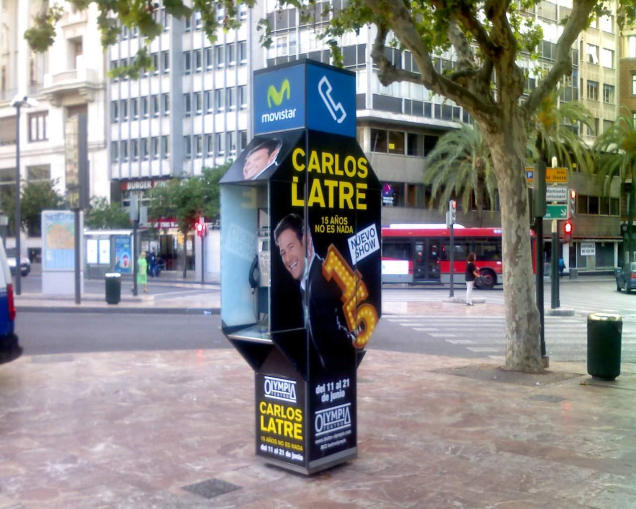Publicidad cabinas Valencia – Carlos Latre