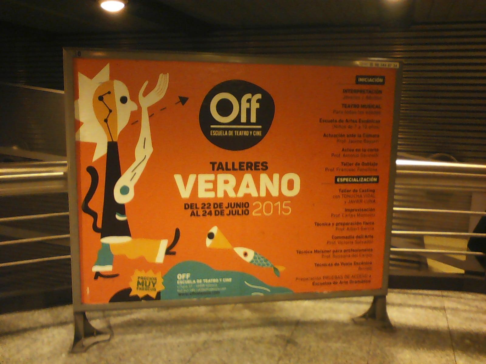 Publicidad metro Valencia – Escuela OFF