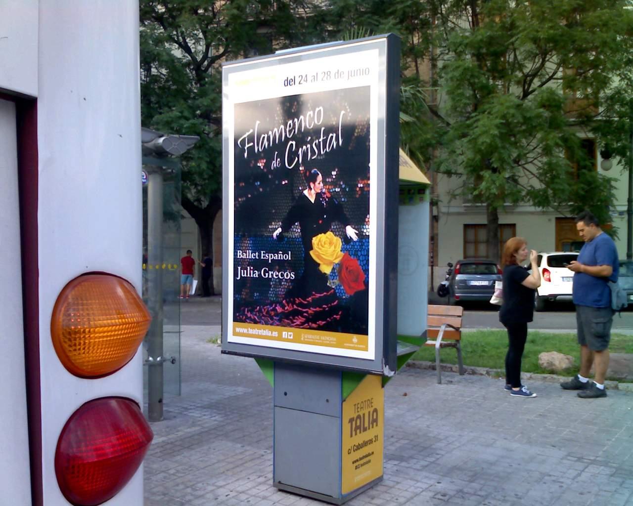 Publicidad mupis Valencia – Julia Grecos