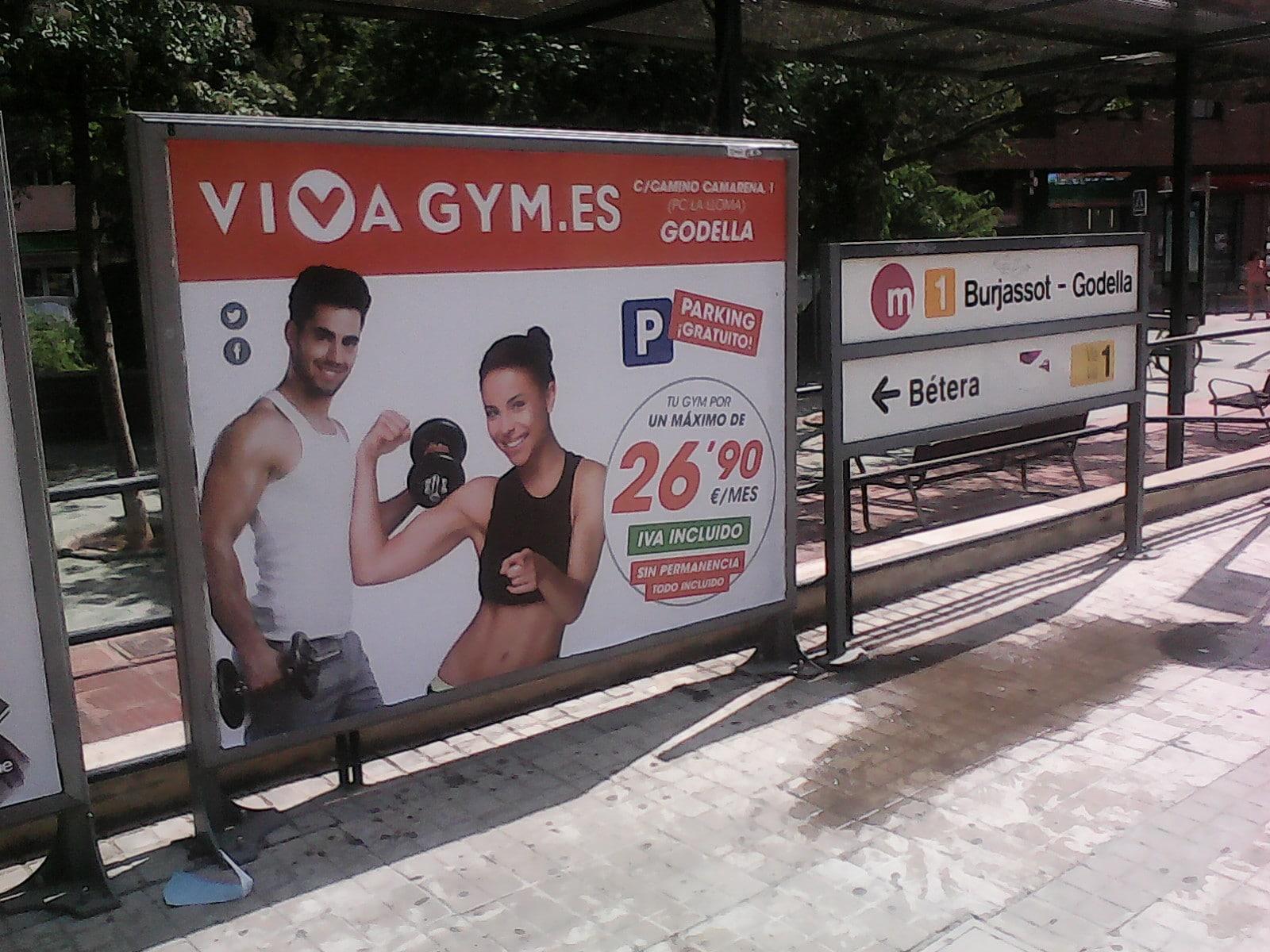 Publicidad metro – Viva Gym Godella matrículas septiembre 2015