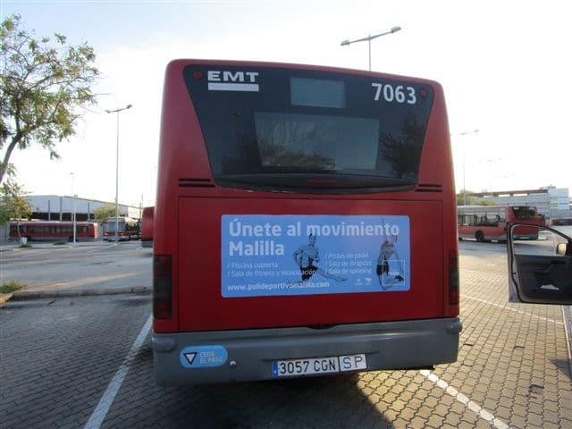 Publicidad autobuses – Polideportivos Malilla y Torrefiel 2015