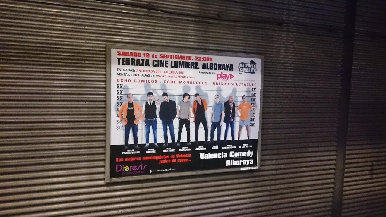 Publicidad metro – Valencia Comedy