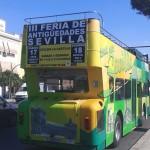 Publicidad autobuses – Feria de antigüedades de Sevilla