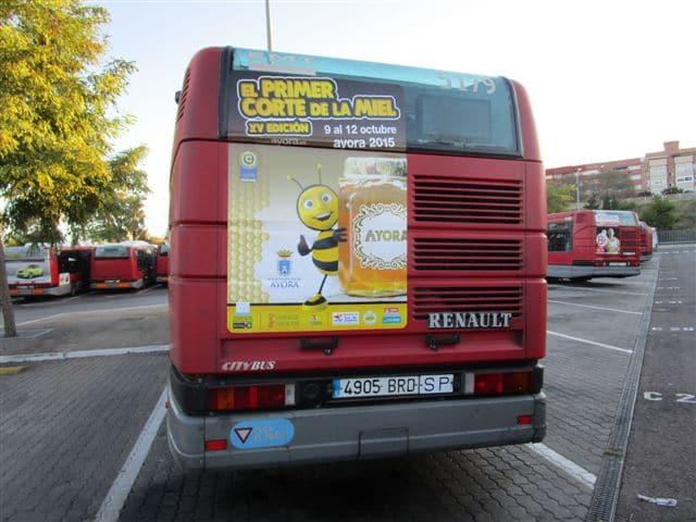 Publicidad autobuses – Feria de la miel 2015