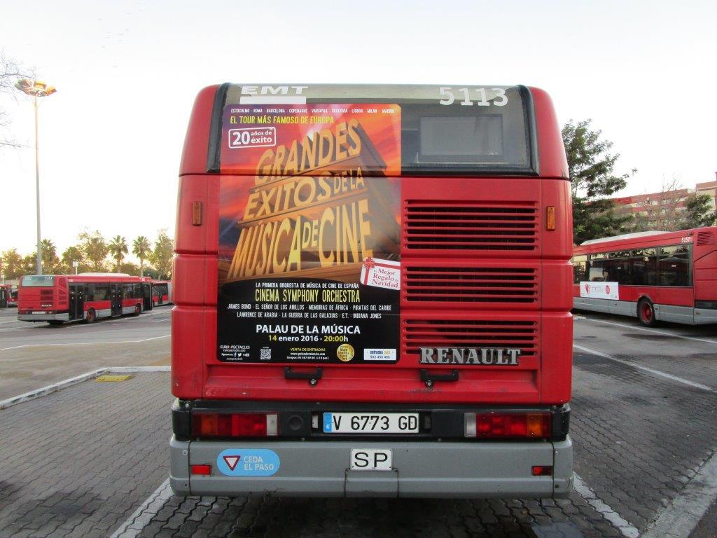 Publicidad autobuses – LA MEJOR MÚSICA DEL CINE