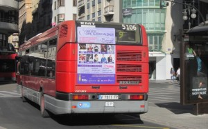Publicidad autobuses – Circuito Café Teatro programación