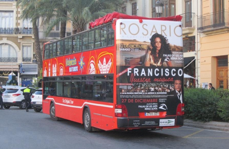 Publicidad autobuses – Concierto Rosario y Francisco