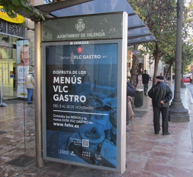 Publicidad marquesinas – Federación de hostelería Valencia