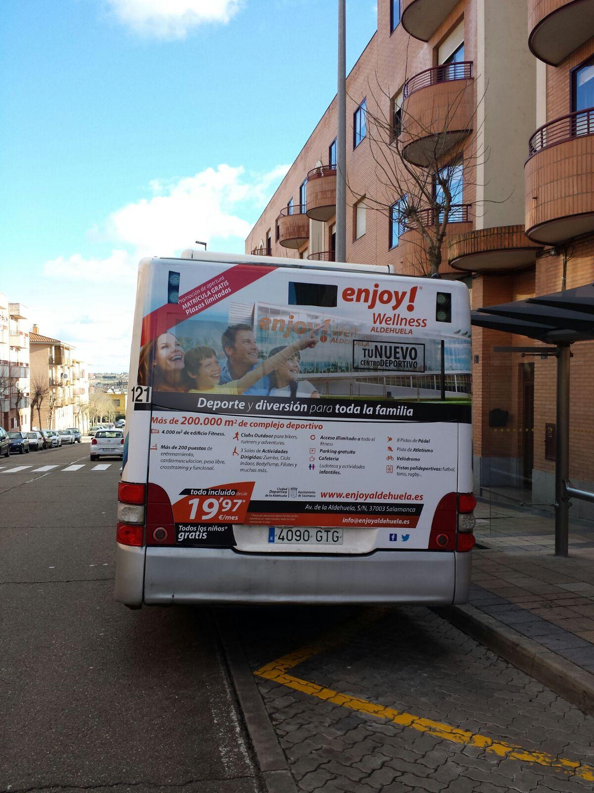 Publicidad autobuses – Enjoy Wellness Salamanca