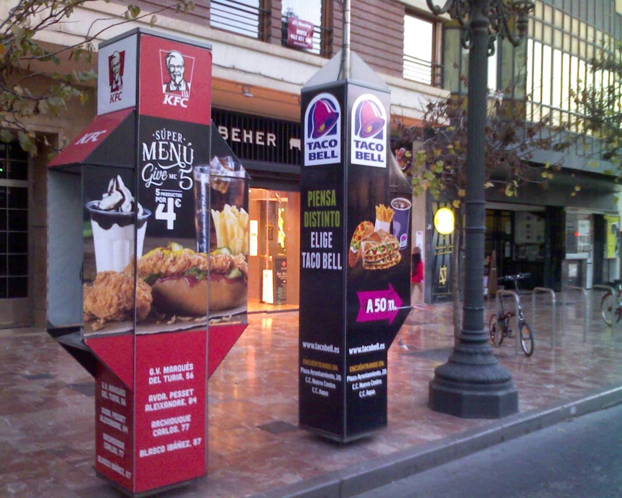 Publicidad cabinas Valencia – Taco Bell