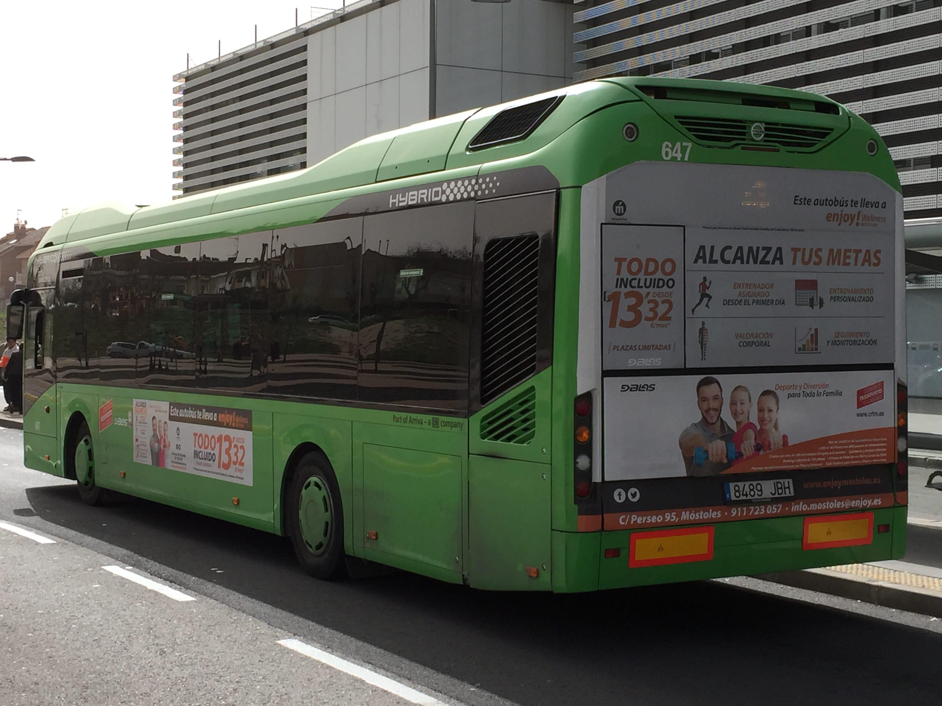Publicidad autobuses – Enjoy Móstoles