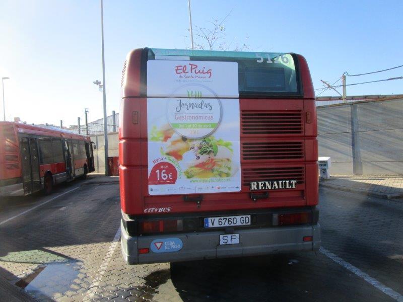 Publicidad autobuses – Jornadas gastronómicas del Puig 2016