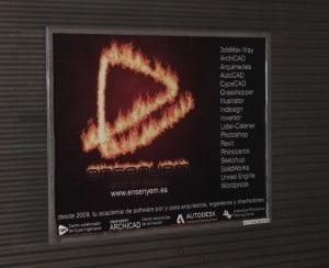 Publicidad metro Valencia – Academia Enseyem