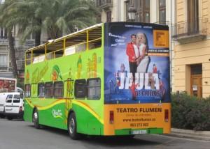 Publicidad bus turístico – La Jaula de Grillos
