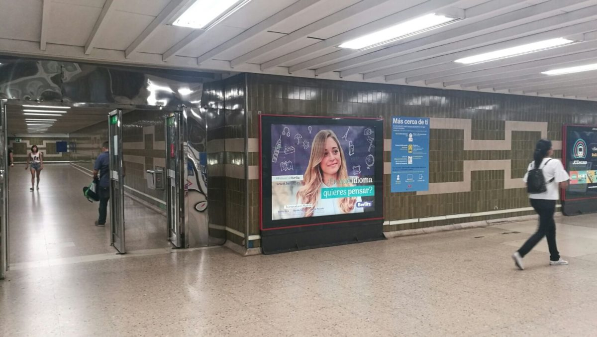publicidad metro Madrid, publicidad exterior Madrid
