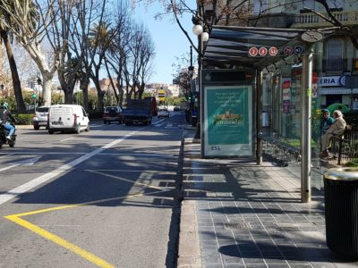 Publicidad en paradas de autobús, marquesinas, publicidad exterior