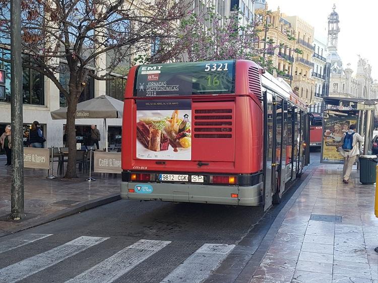 X Jornadas Gastronómicas, Publicidad autobuses, Publicidad exterior, jornadas gastronómicas, plaza ayuntamiento