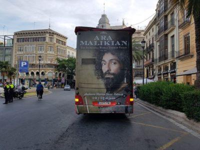 Publicidad en bus turistico Valencia, Publicidad autobús turístico, publicidad exterior