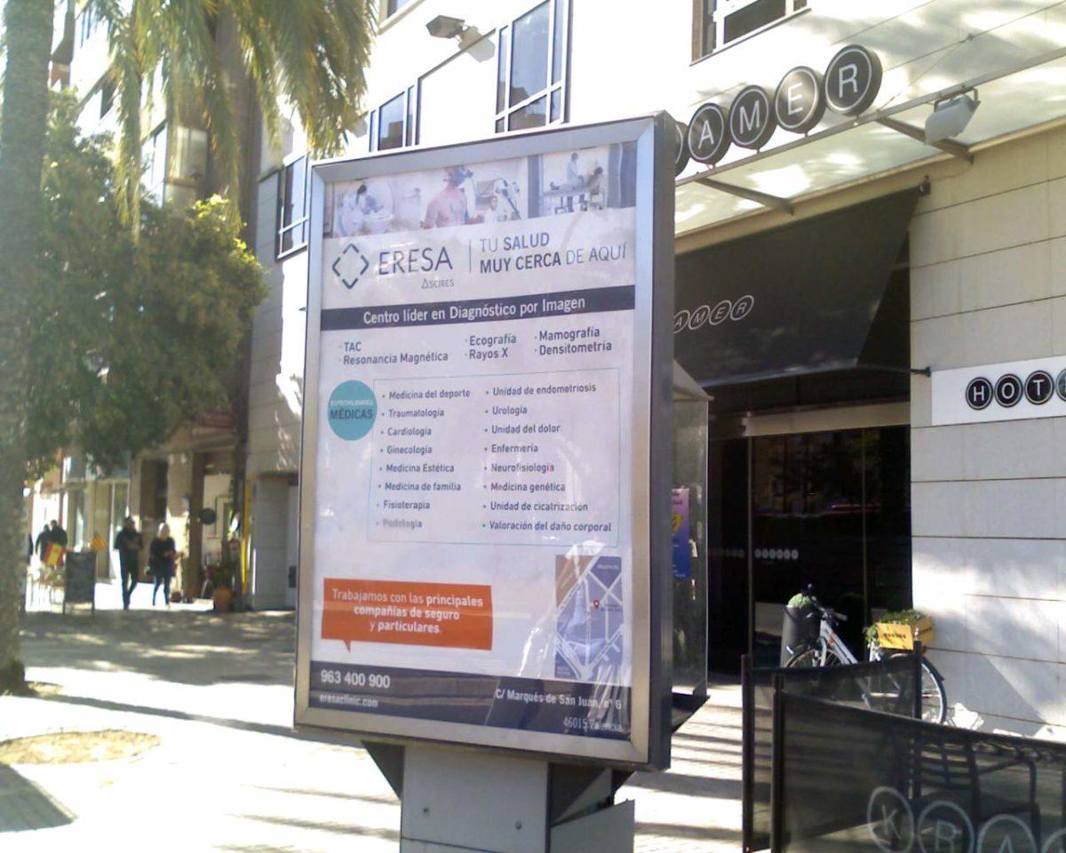publicidad en mobiliario urbano valencia, publicidad exterior valencia, publicidad mupis valencia