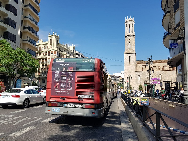publicidad autobuses estandar Valencia