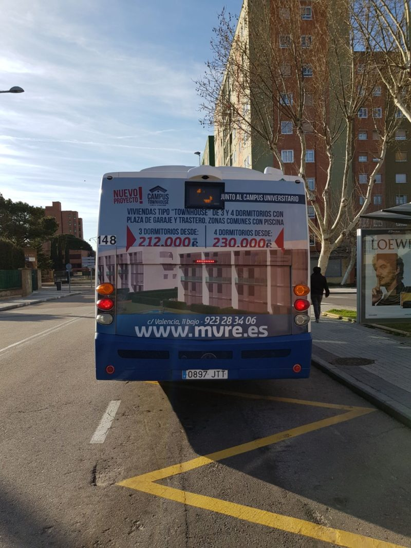 publicidad autobuses de Salamanca