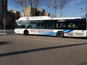 publicidad autobuses en Salamanca