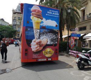 Publicidad bus turístico de Valencia