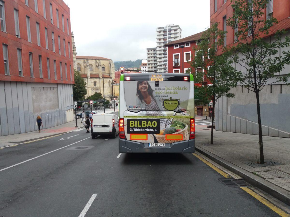 publicidad autobuses de Bilbao, publicidad exterior Bilbao